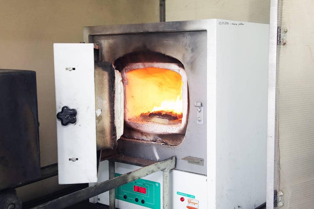 испытание в муфельной печи, лаборатория огнезащиты